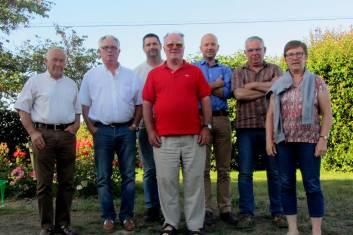 de gauche à droite Christian Soulard, Gilles Chevalier, Christophe Séchet, Thierry de Fourgeroux, Arnaud Gautier, Xavier David, Françoise Supiot (manque Elisabeth Hugot-Derville)